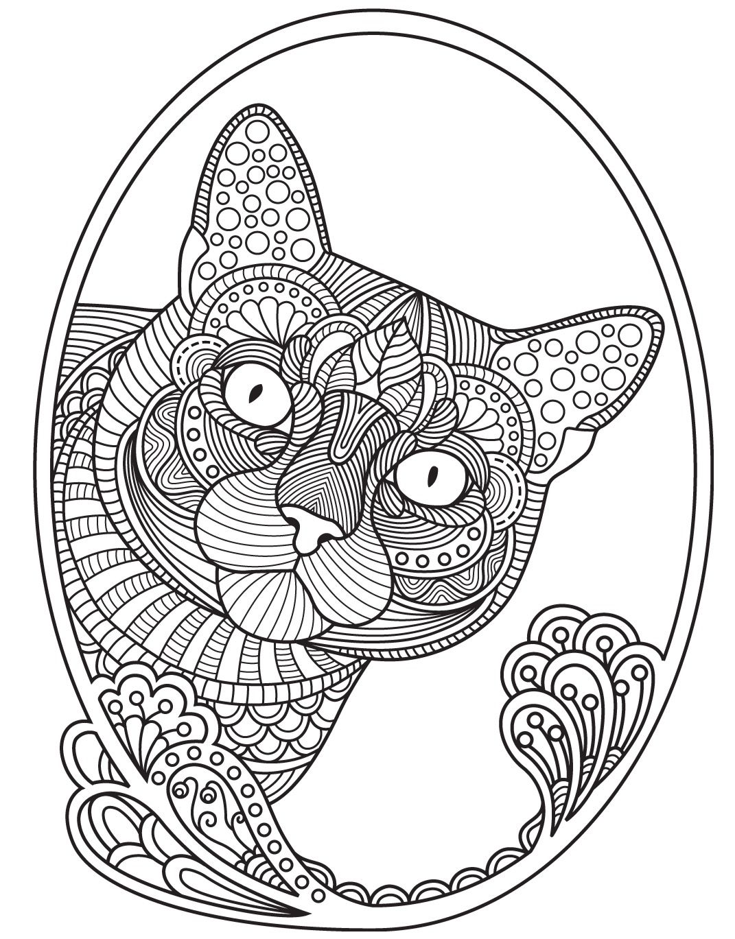 Cats To Color Colorish Free Coloring App For Adults By Goodsofttech Animal Coloring Pages Mandala Coloring Pages Cat Coloring Page
