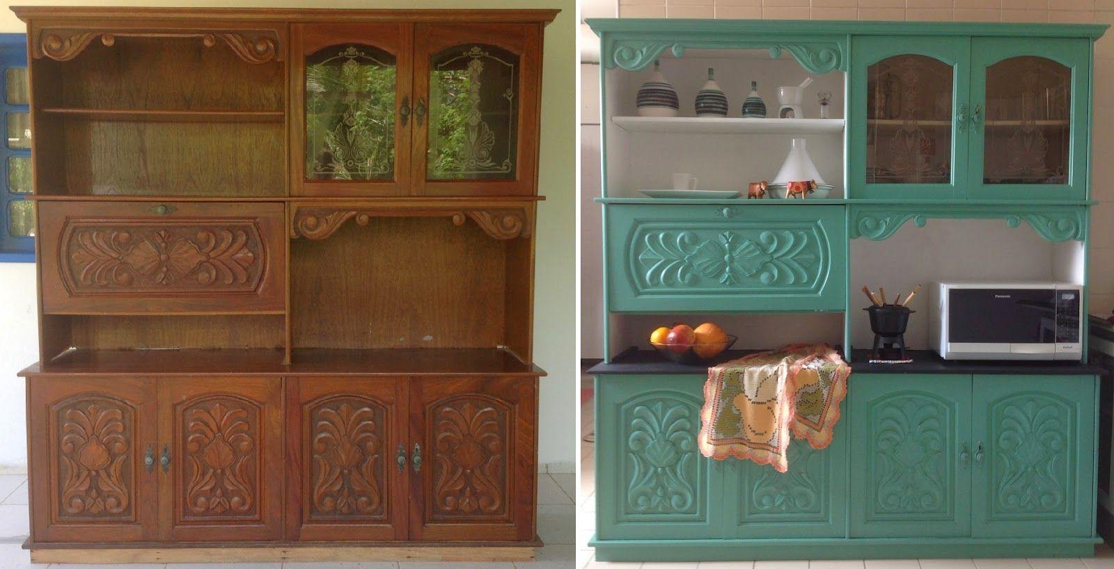 Armarios Para Jardin Ikea ~ Restauraç u00e3o de Armário de Cozinha Restauro Pinterest Pincel pintura, Armário de madeira e