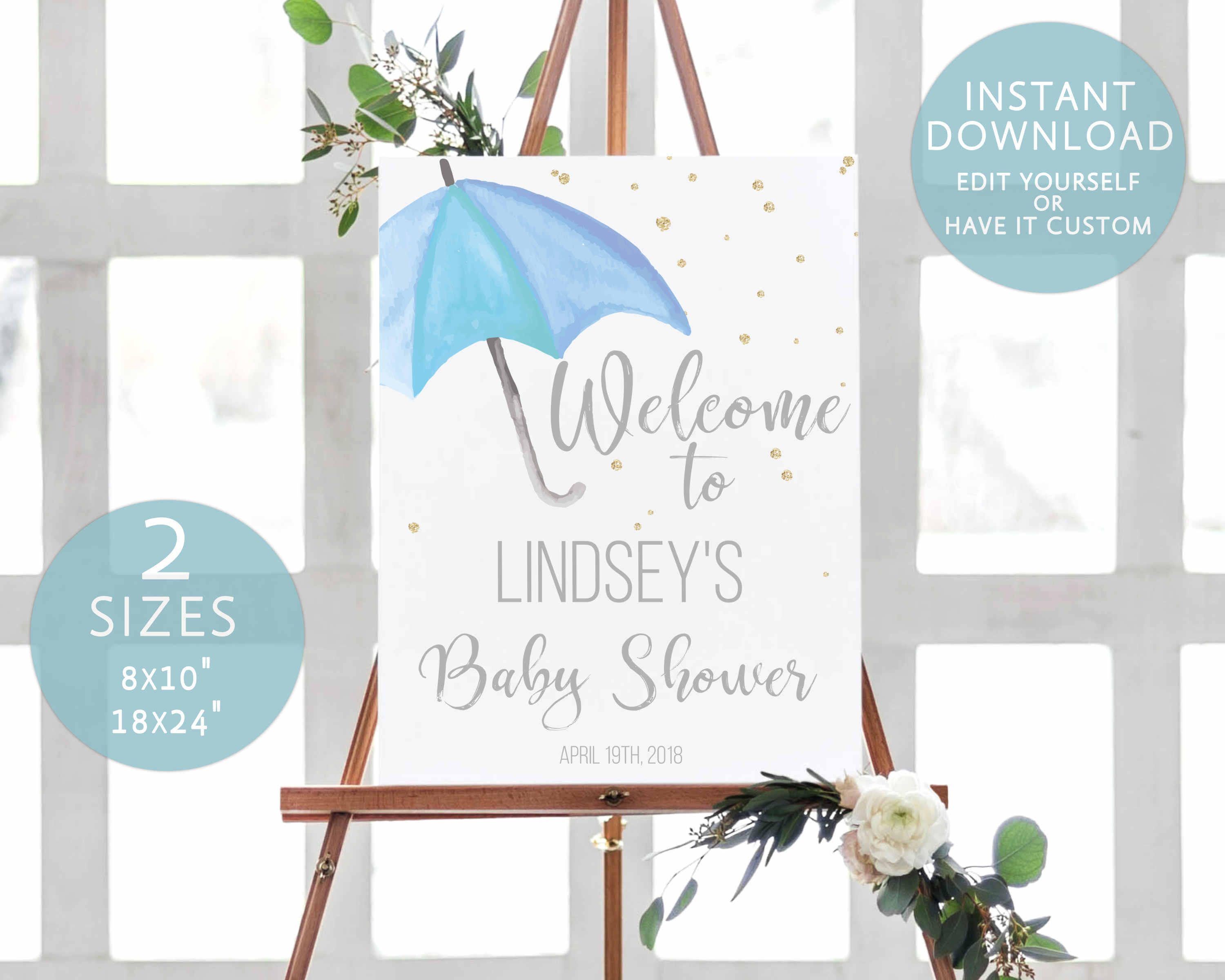 Unicorn Baby Shower Welcome Sign Template Pink And Gold Unicorn Baby Shower Theme Baby Girl Shower Themes Baby Shower Food For Girl