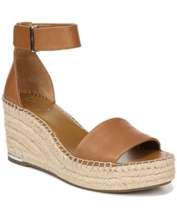 068946cdc2d Franco Sarto Clemens Wedge Sandals - Tan Beige Flip Flop Sandals