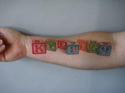 Your Child S Name Tattoo Cute Idea Tattoos Pinterest