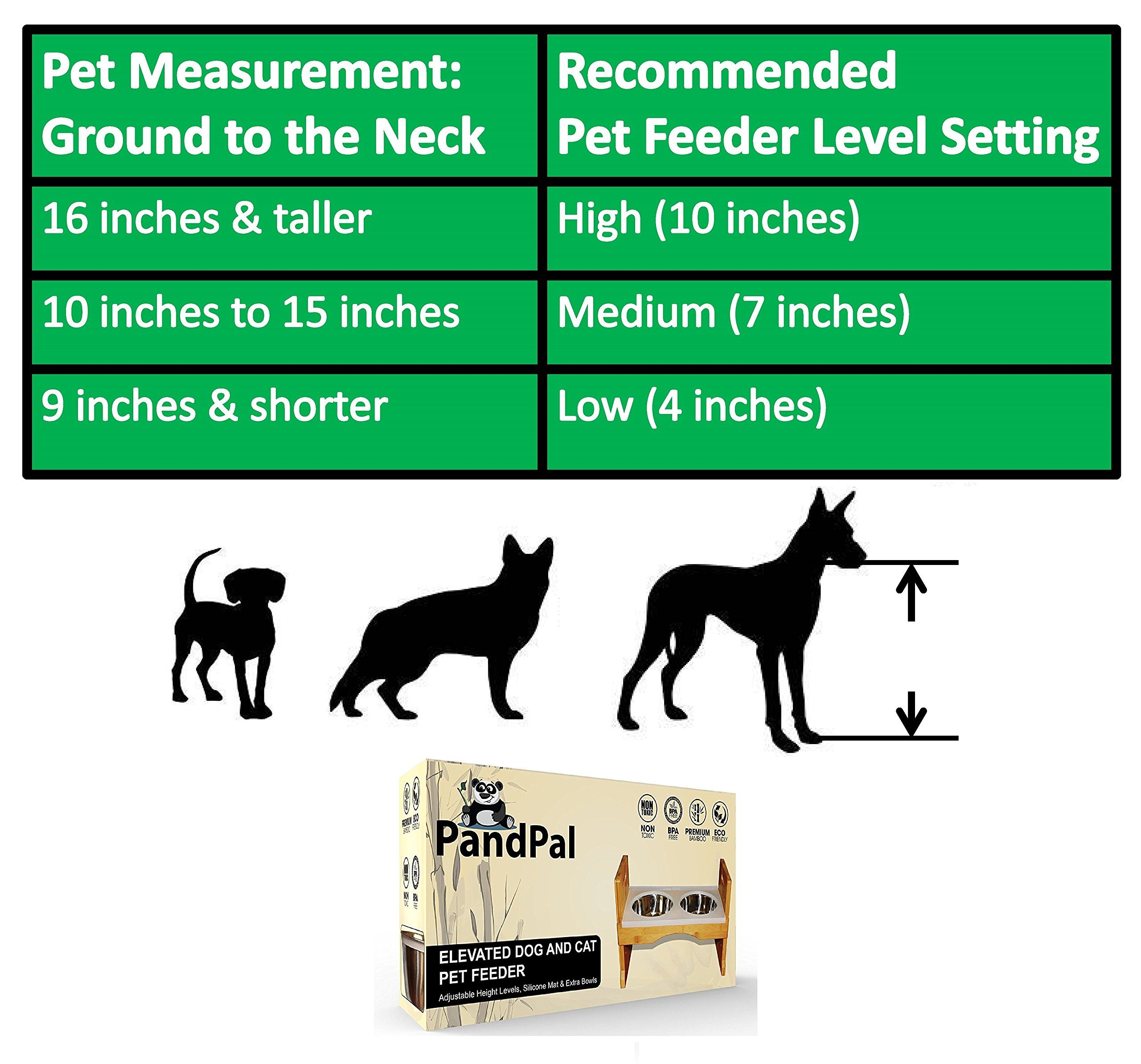 Adjustable Raised Pet Dog Feeder ?u20ac? Waterproof Design W/ Silicone Mat  #DogFeedingWateringSupplies