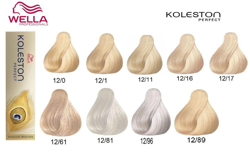 Cartella colori capelli koleston