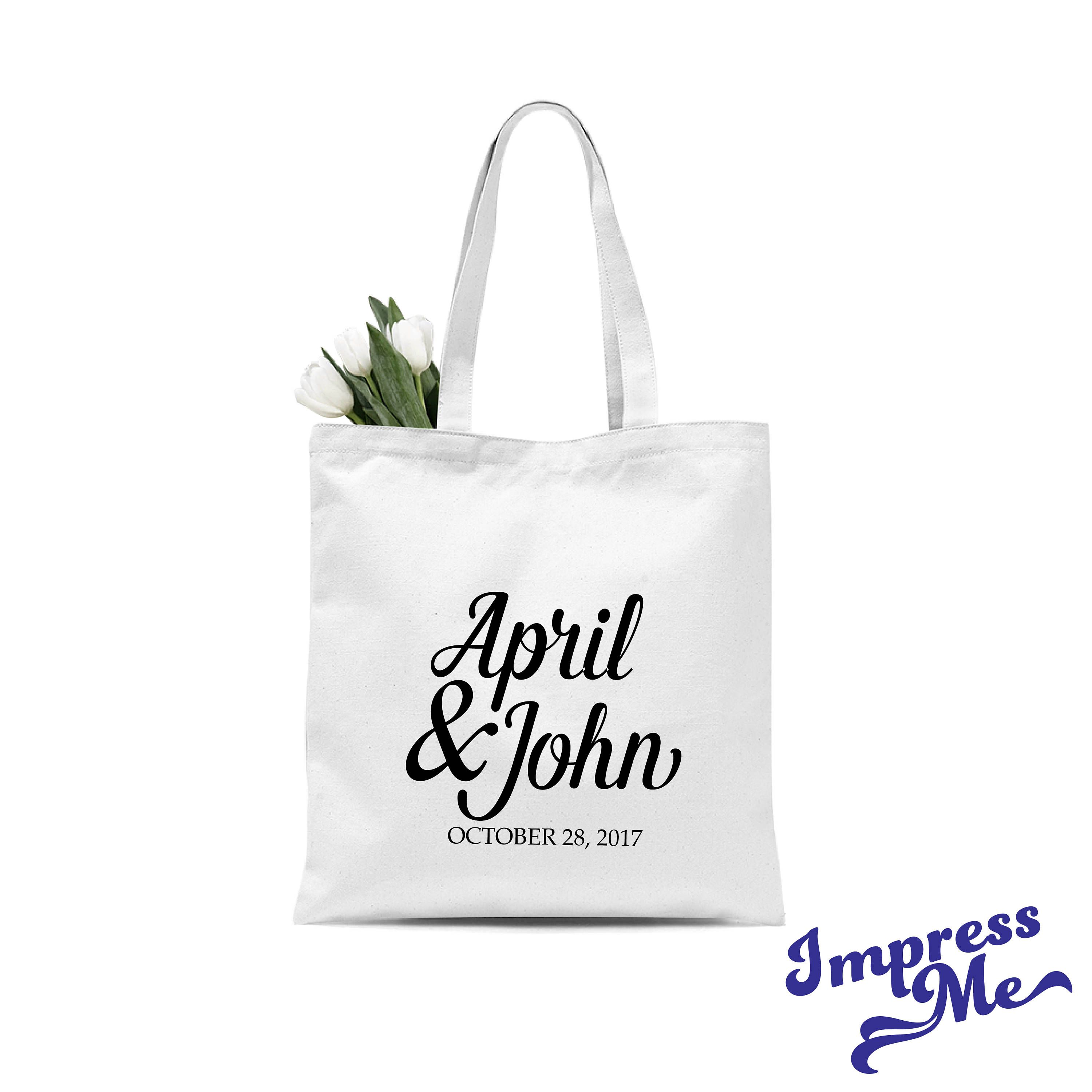 Personalized Tote Bag for Wedding Guests Custom Cotton Tote Custom ...