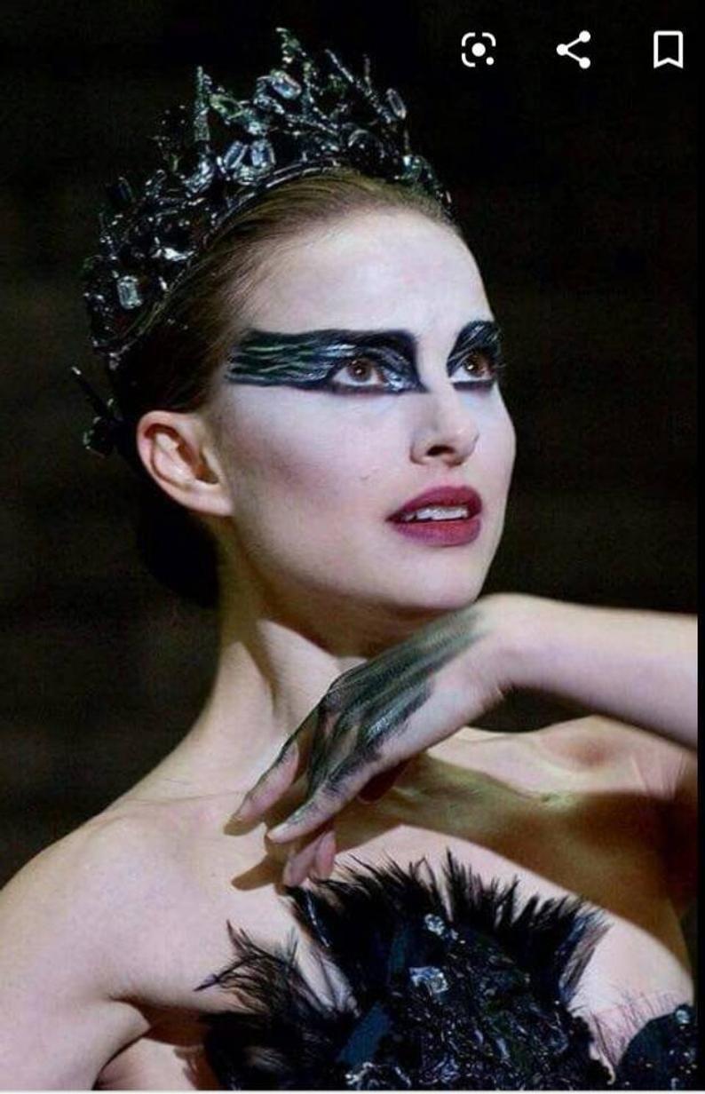 Black Crown Halloween Costume Black Swan Crown Tiara Cheerle Headpiece Headband Fascinator Cosplay Ballet Evil Queen Bachelorette Party Black Swan Movie Black Swan Makeup Movie Makeup