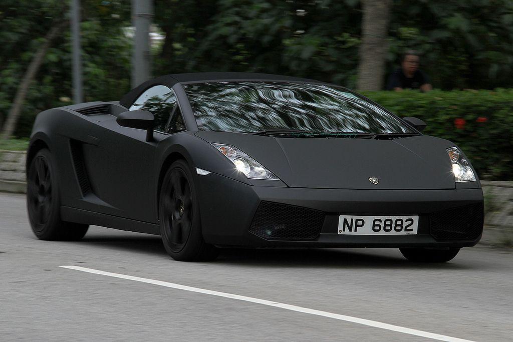 Lamborghini Gallardo Spyder Matte Black Cars Lamborghini