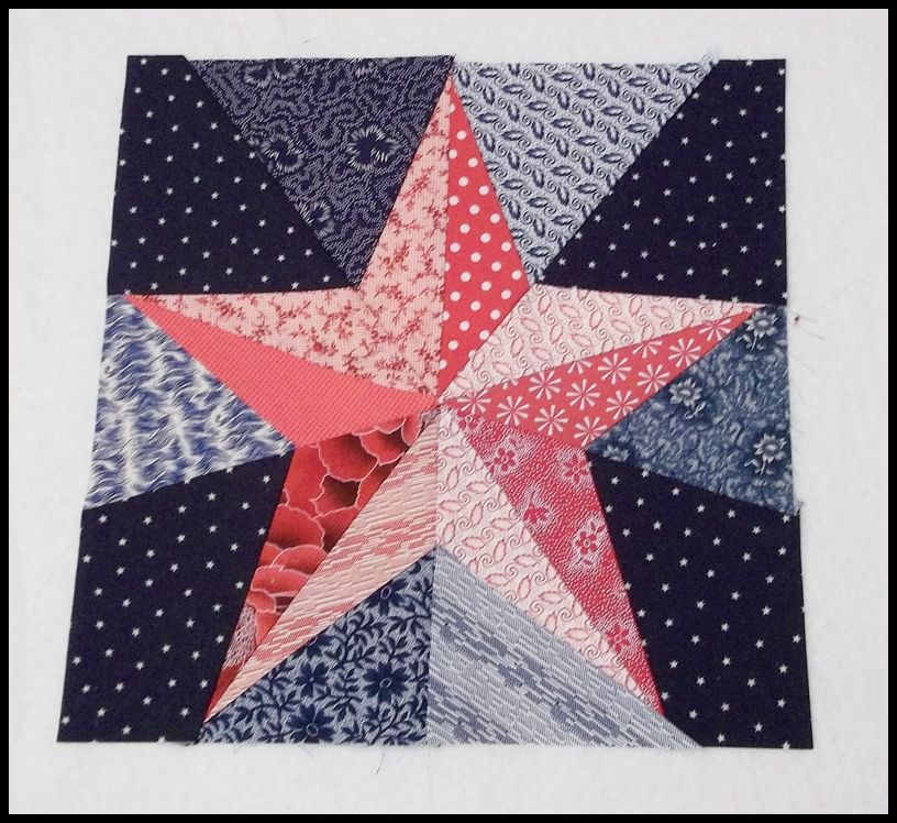 free pattern = The Five Pointed Star block by Hot Pink Peonies ... : block by block quilting - Adamdwight.com