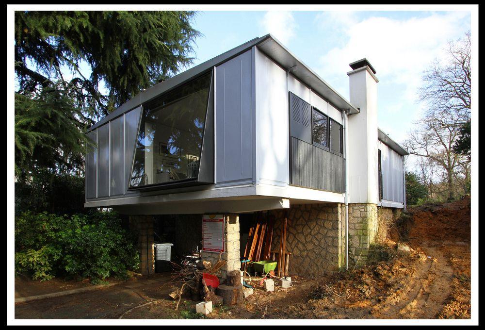 maison industrialis e type m tropole 1950 52 meudon jean prouve architectes et jeans. Black Bedroom Furniture Sets. Home Design Ideas
