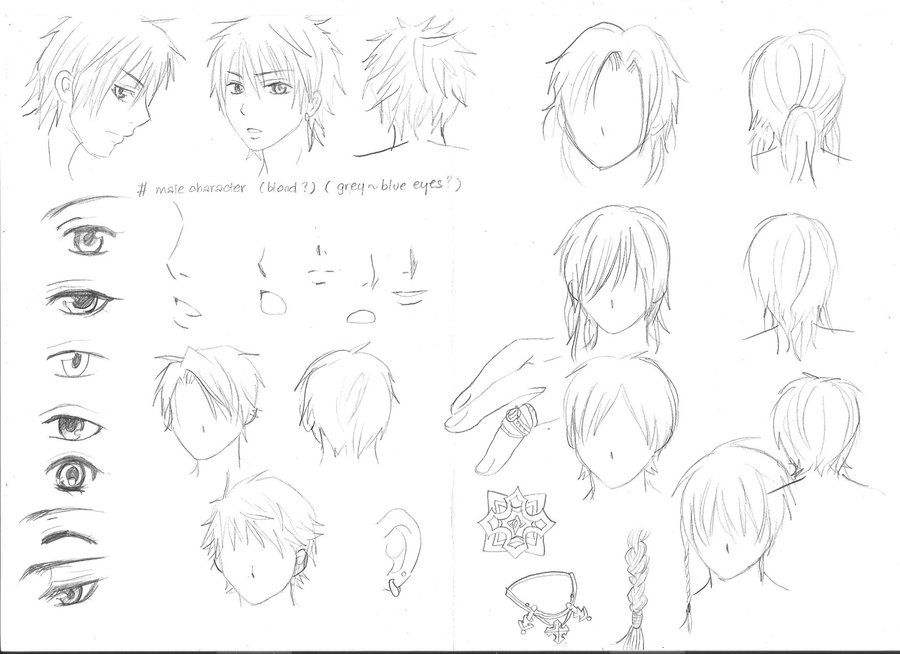 Various Sketches Of Male Manga Characters Manga Drawing Tutorials Anime Character Drawing Male Manga