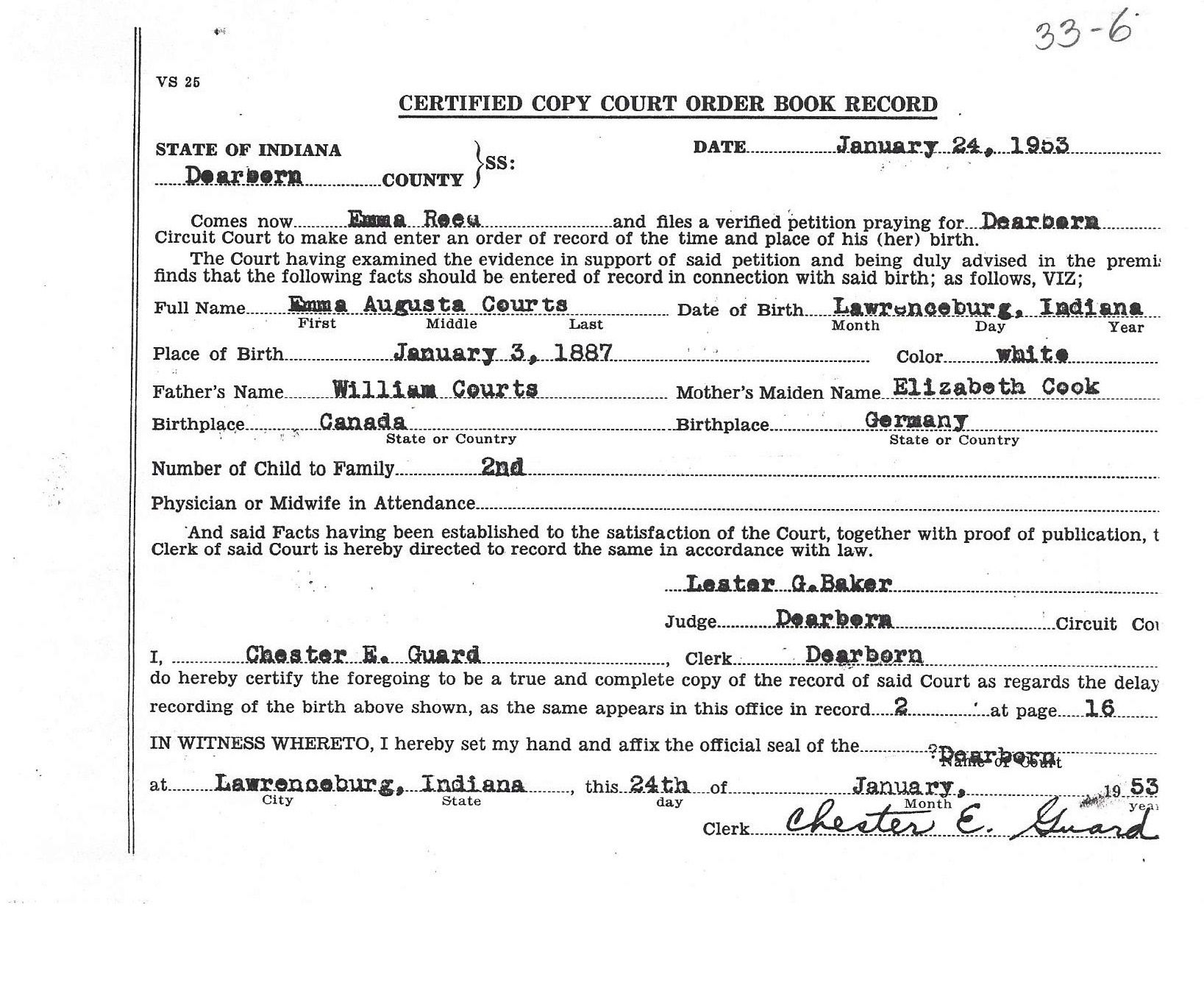 Delayed birth certificate for emma augusta reed maiden name delayed birth certificate for emma augusta reed maiden name courts daughter of william henwood aiddatafo Gallery