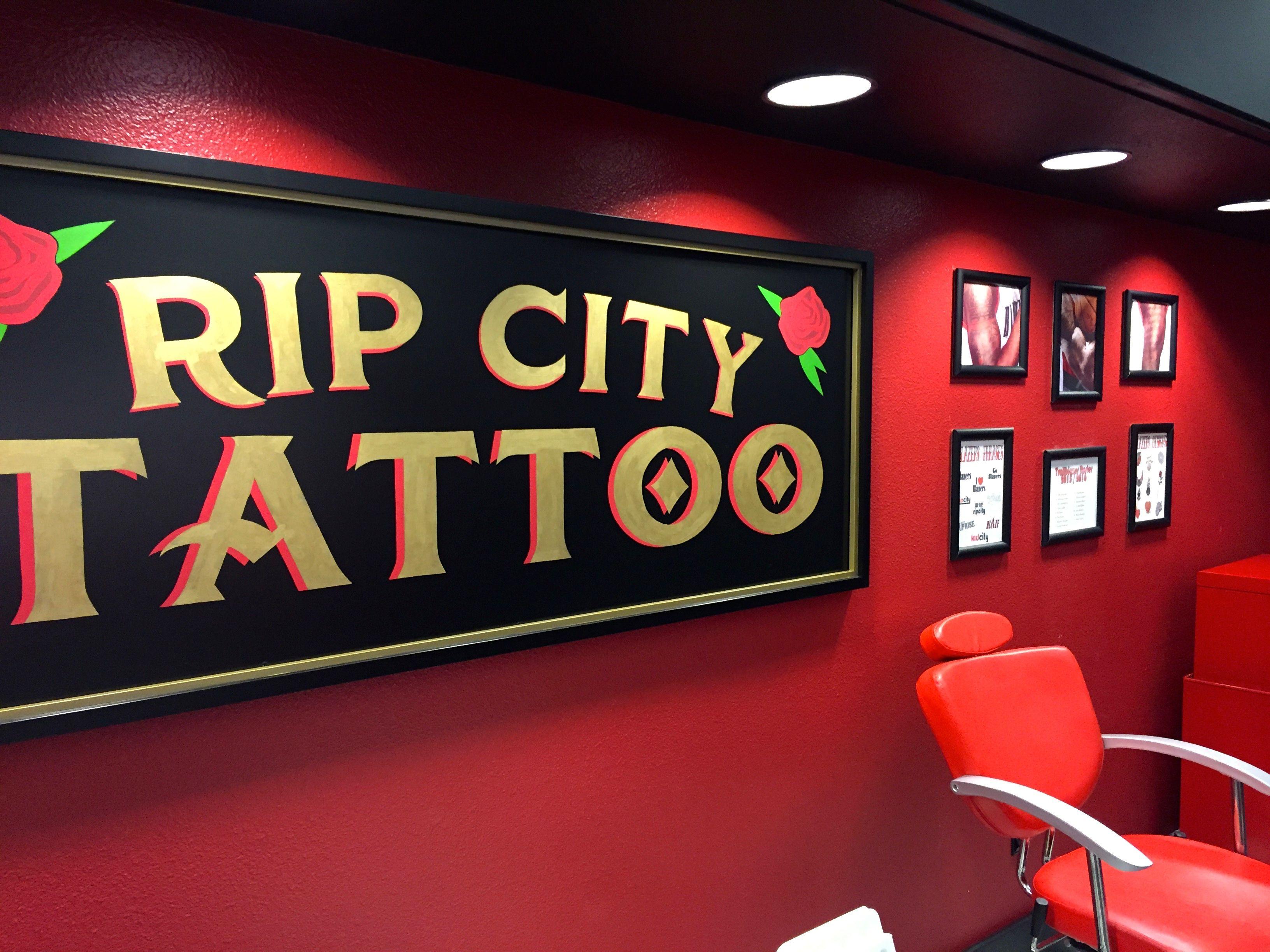 Rip City Tattoo signage · City TattooSignagePortland Trailblazers