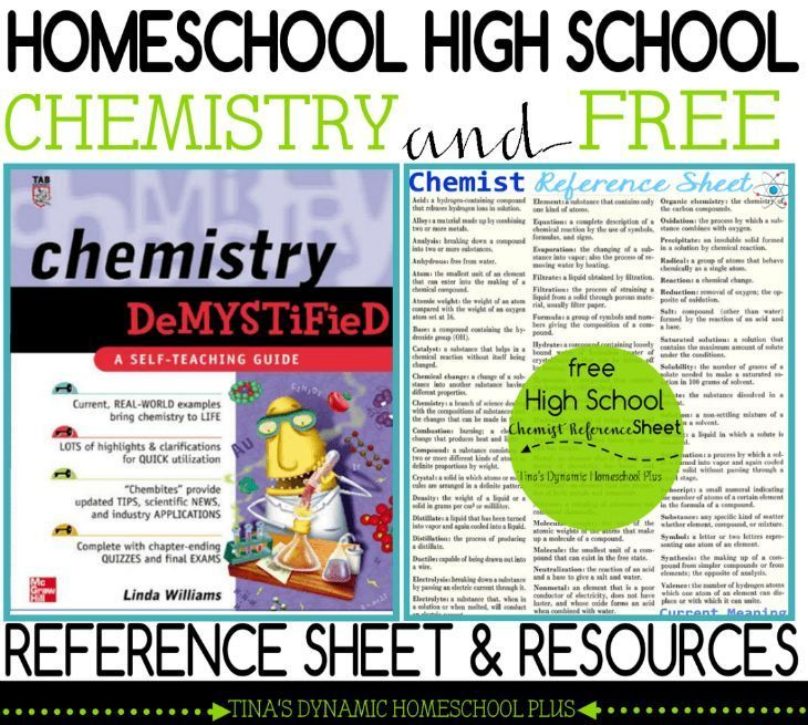 Homeschool High School Chemistry \ Free Reference Sheet and - reference sheet examples