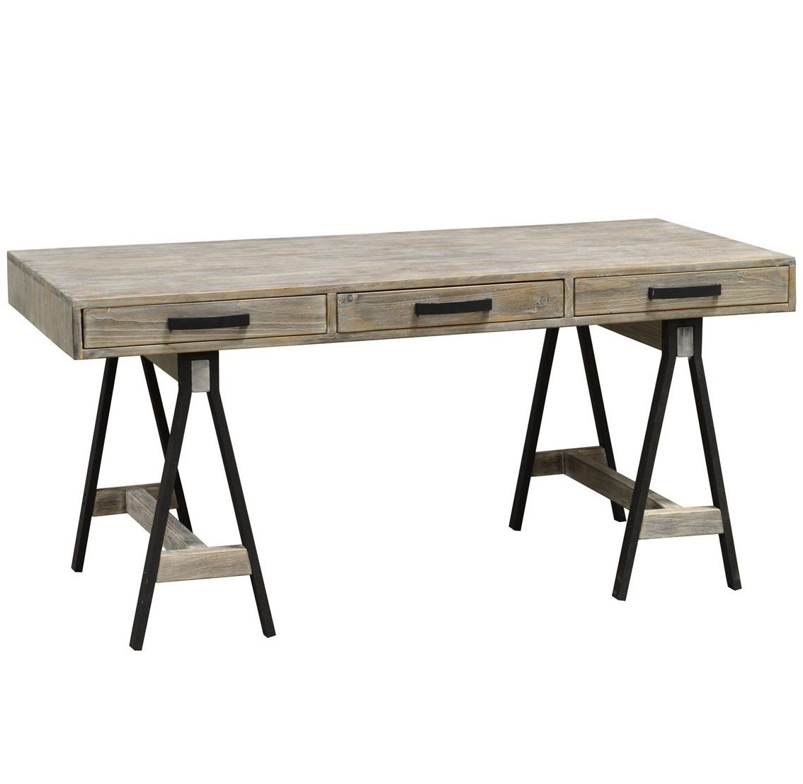 Juliana Sawhorse Reclaimed Wood Desk | Desks, Woods and Office spaces