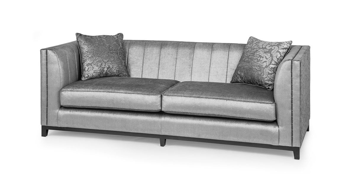Marseille 3 Seater Sofa Luxury Style Upholstered In Fabric