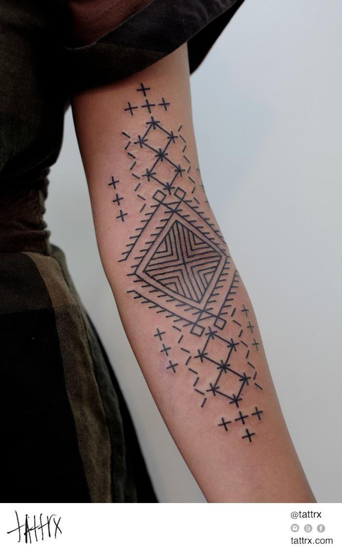 tatouage avant-bras – 40 idées cool pour hommes et femmes | amazigh