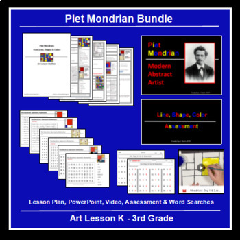 Piet Mondrian Art Lesson with Assessment in 2020