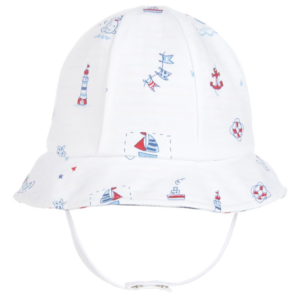 59b4ff594 Kissy Kissy - Baby Boys Pima Cotton Sun Hat | | HATS SCARVES MITTENS ...