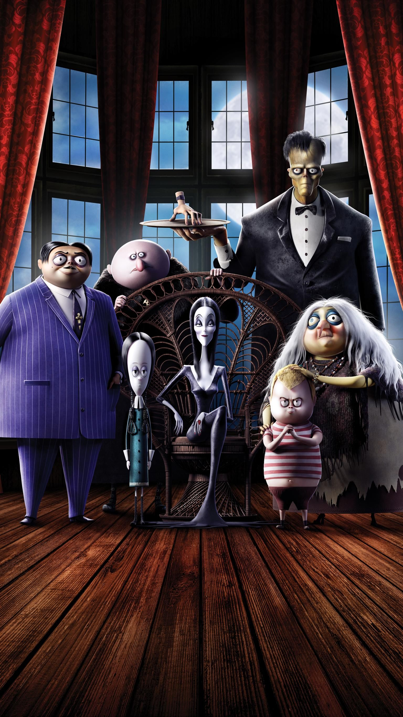 The Addams Family 2019 Phone Wallpaper The Addams Family