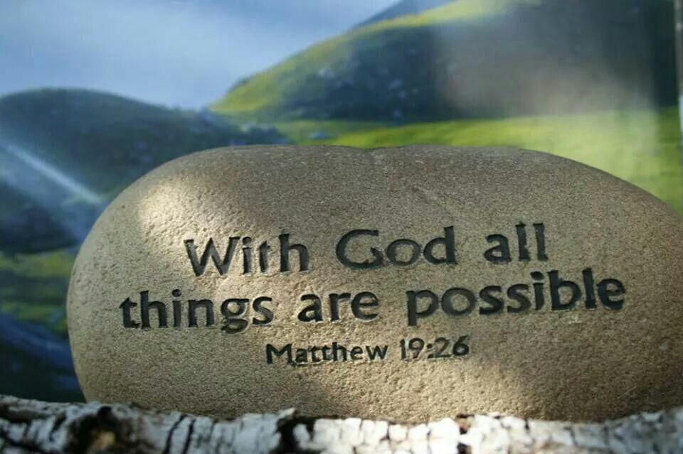 Inspiration With God All Things Are Possible Must Do