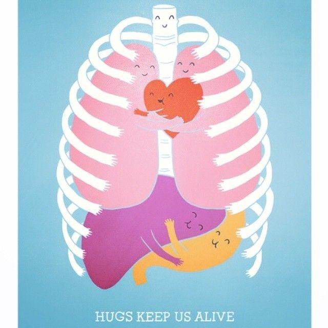 #Hugs keep us alive :)