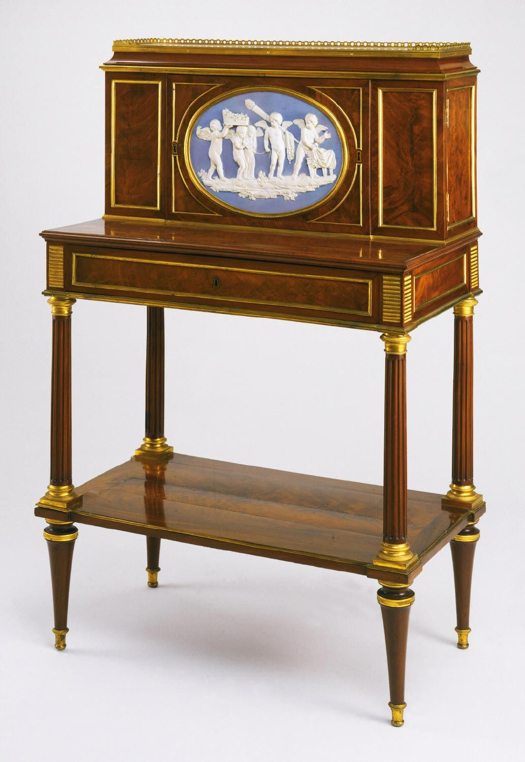writing desk attributed to adam weisweiler german active paris 1744 1820 plaque. Black Bedroom Furniture Sets. Home Design Ideas