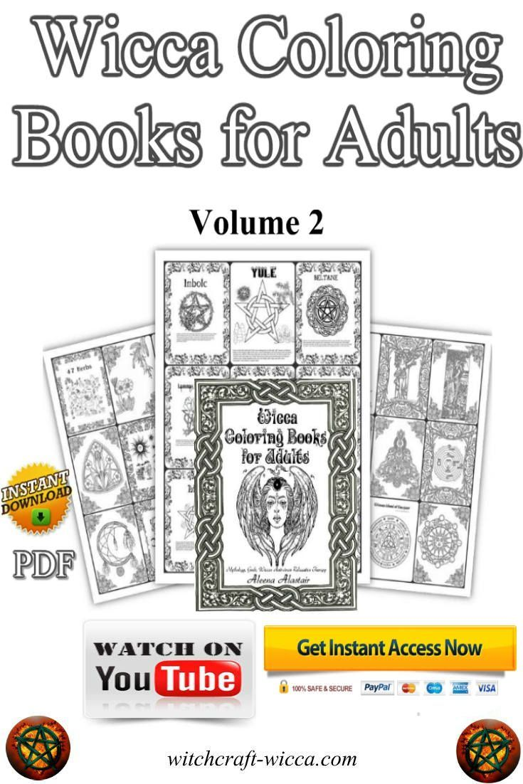 Book of shadows instant download wicca coloring book wiccan books