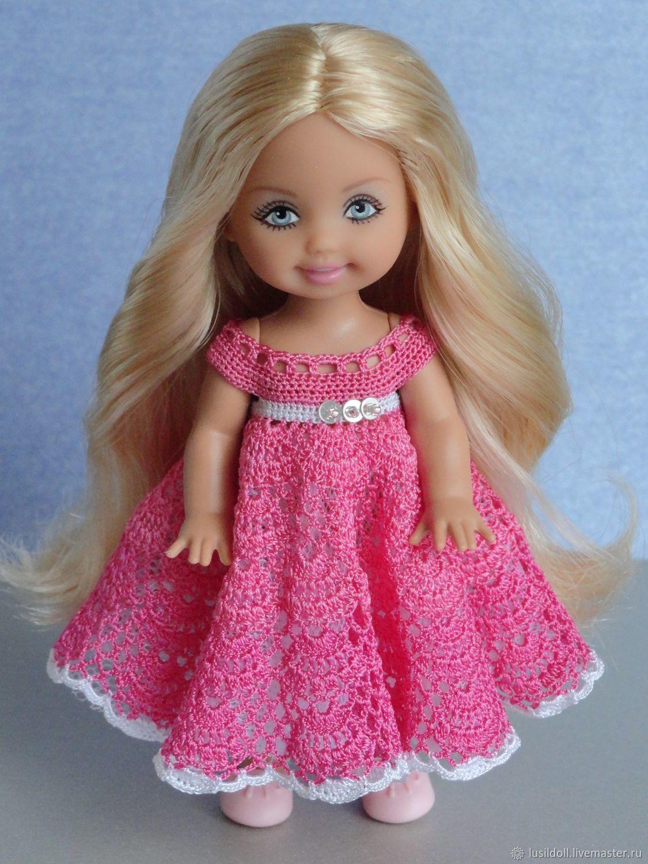 50115b49518 Одежда для кукол ручной работы. Ярмарка Мастеров - ручная работа. Купить  Платье для куклы Kelly Mattel. Handmade. Розовый