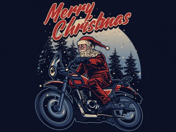 Photo of Santa Rider T-shirt Design