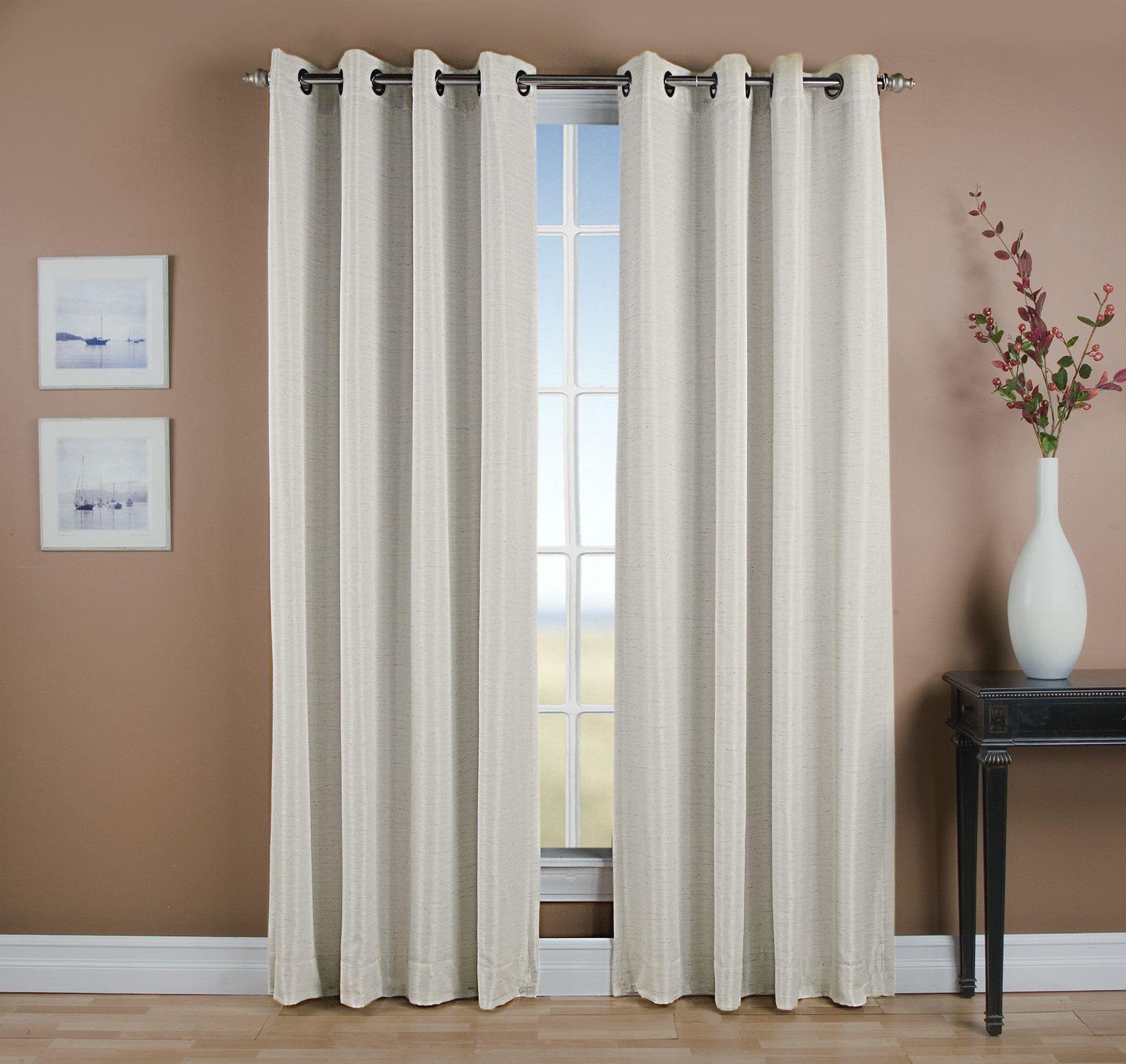 Gleason Solid Room Darkening Thermal Grommet Single Curtain Panel