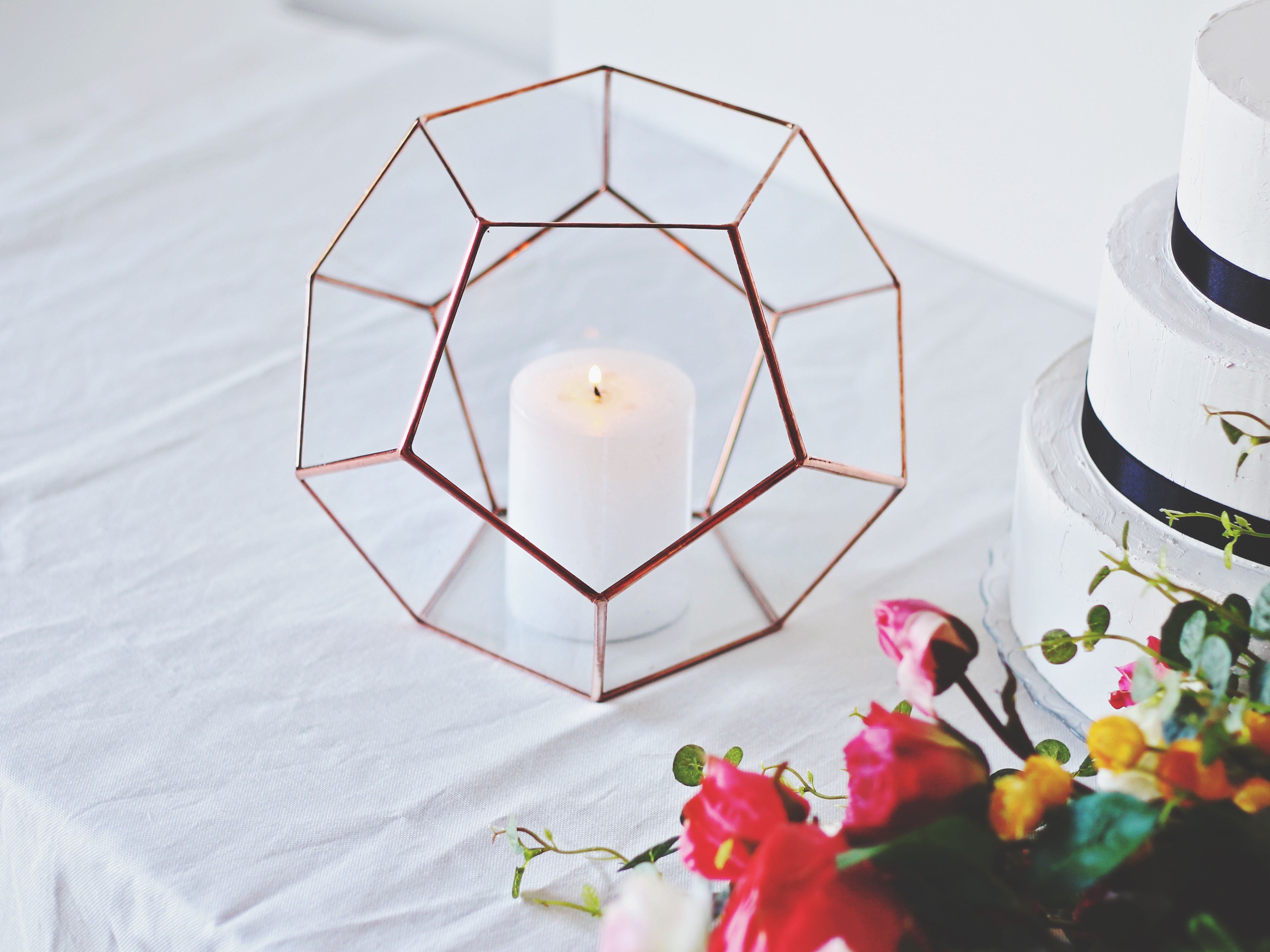 Large Geometric Glass Terrarium Container - Unique Christmas Gifts For