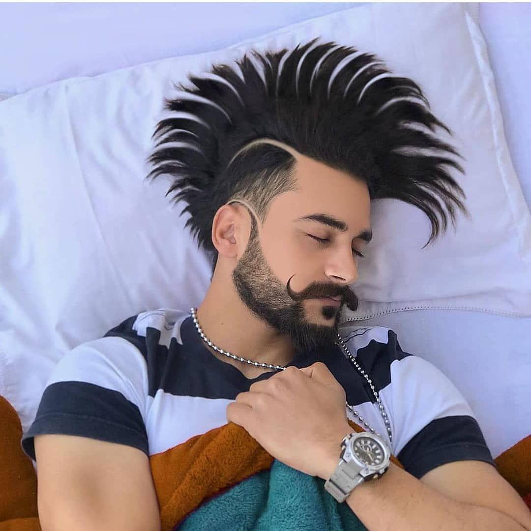 Follow Share Creative Jattwaad Swag Ghaint Carslover Jatts Ghaint Punjabi Mund Hair Styles Beard Styles Hair And Beard Styles