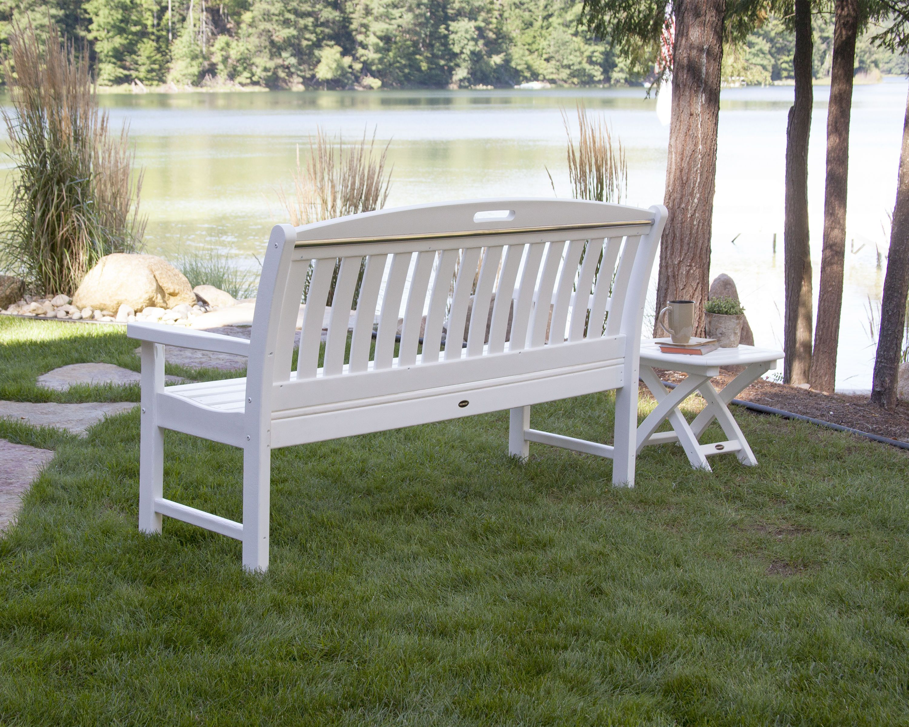 Nautical 60 Bench Bench Outdoor Decor Front Yard Landscaping