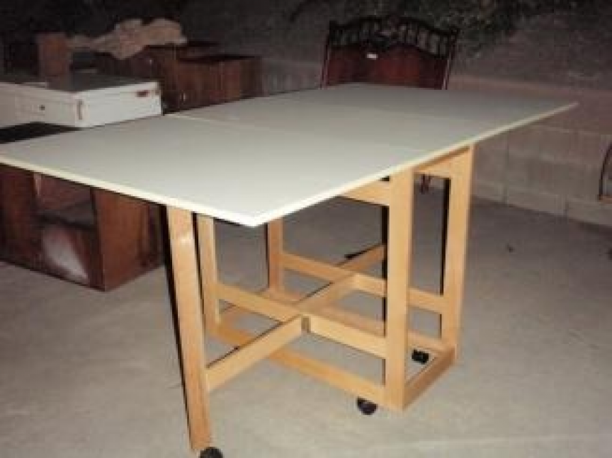 Folding sewing cutting table home ideas folding sewing cutting table room ideas pinterest pin watchthetrailerfo