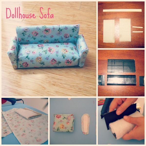 dollhouse couch  Dollhouse Furniture so far and Paper Pieced