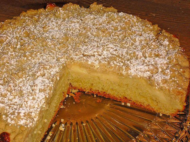 Süße Rezepte: Streuselkuchen mit Pudding