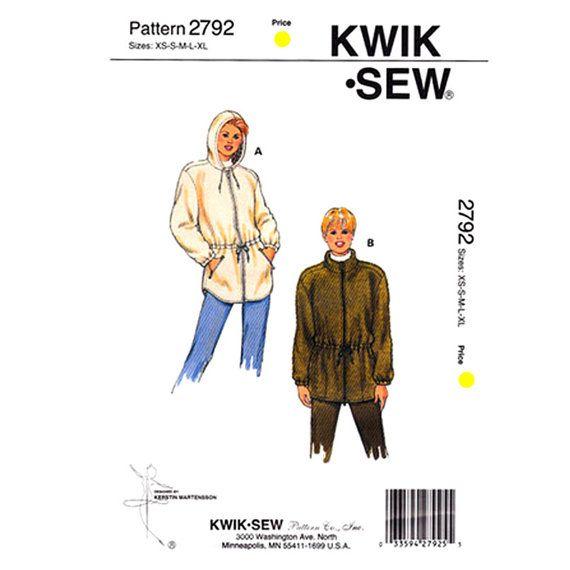 Reserved for Sandrine........Womens Jacket Pattern Kwik Sew 2792 ...
