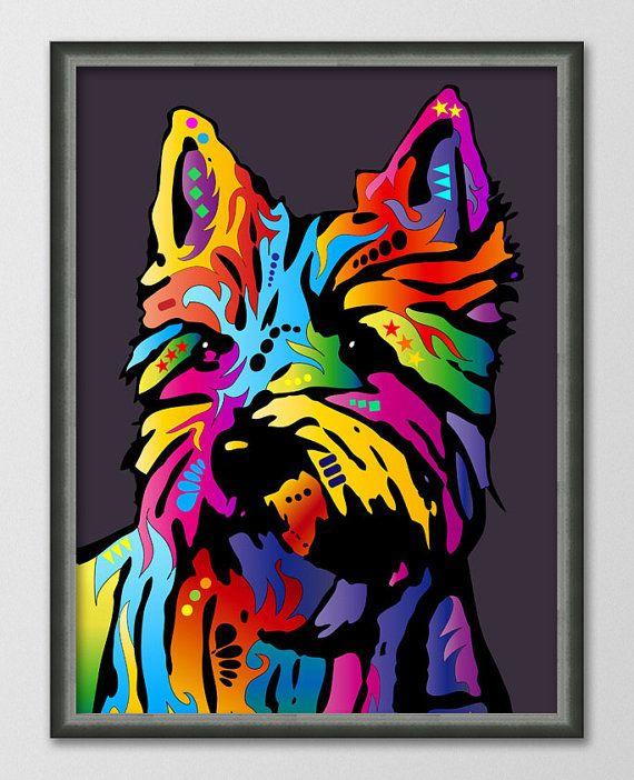 Yorkshire Terrier Yorkie Pop Art Print 18x24 by PawsByArtPause,