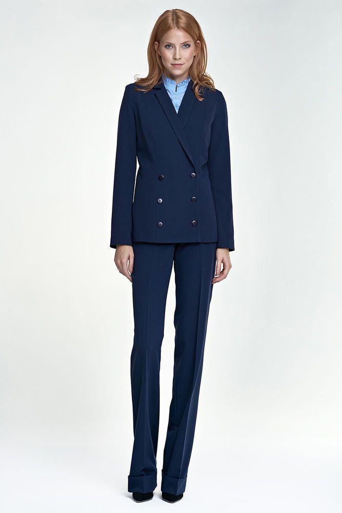 Tailleur Croisée Bleu Costume Pantalon Foncé Et Ensemble Veste Femme 80PnwkO