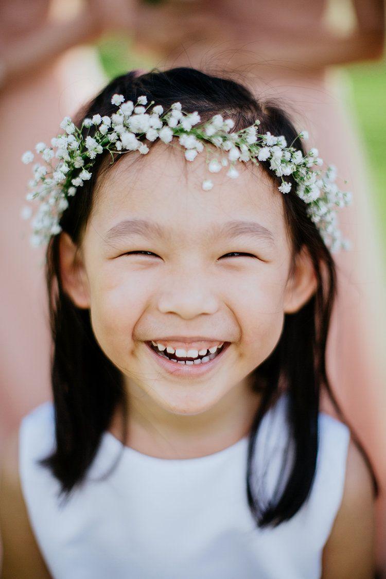 Baby S Breath Flower Crown Little Girls Flower Crown Flower Girl Haku Lei Flower Girl Lei Flower Headband Wedding Baby Flower Crown Baby Breath Flower Crown