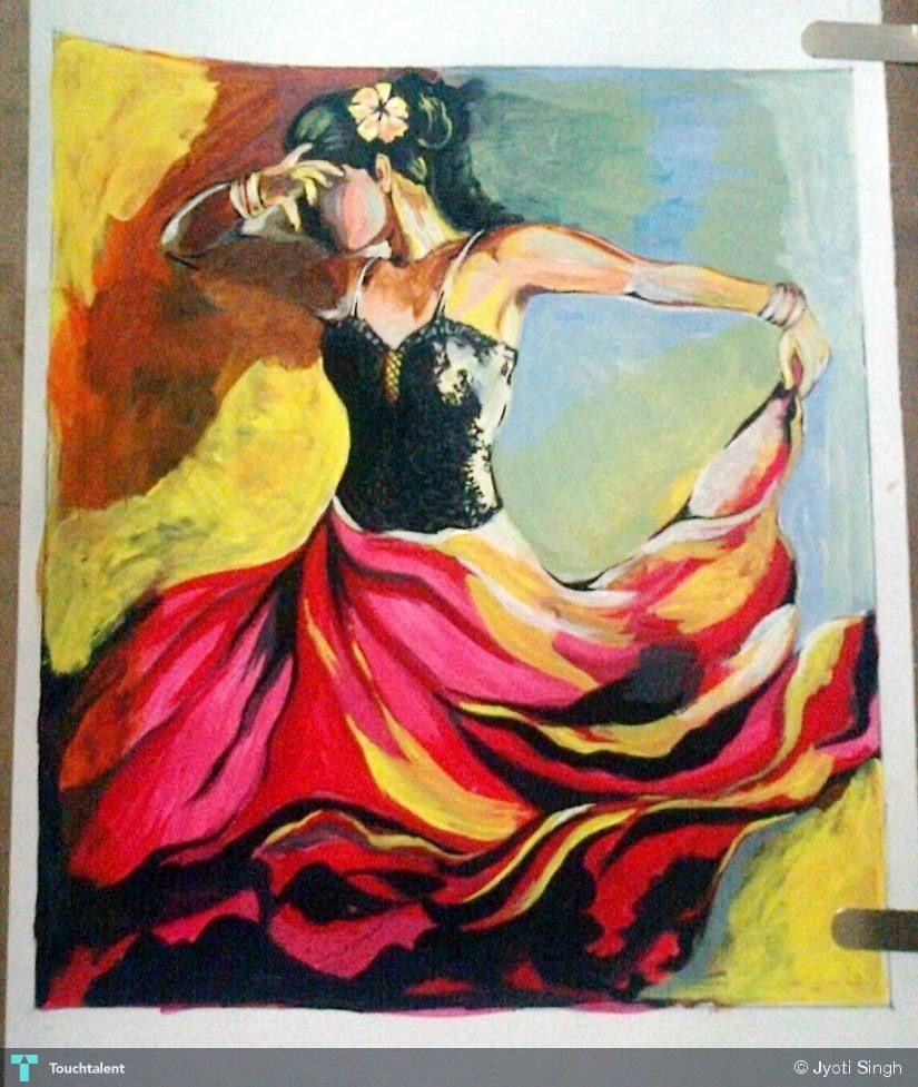 Dancing Girl Painting Painting Of Girl
