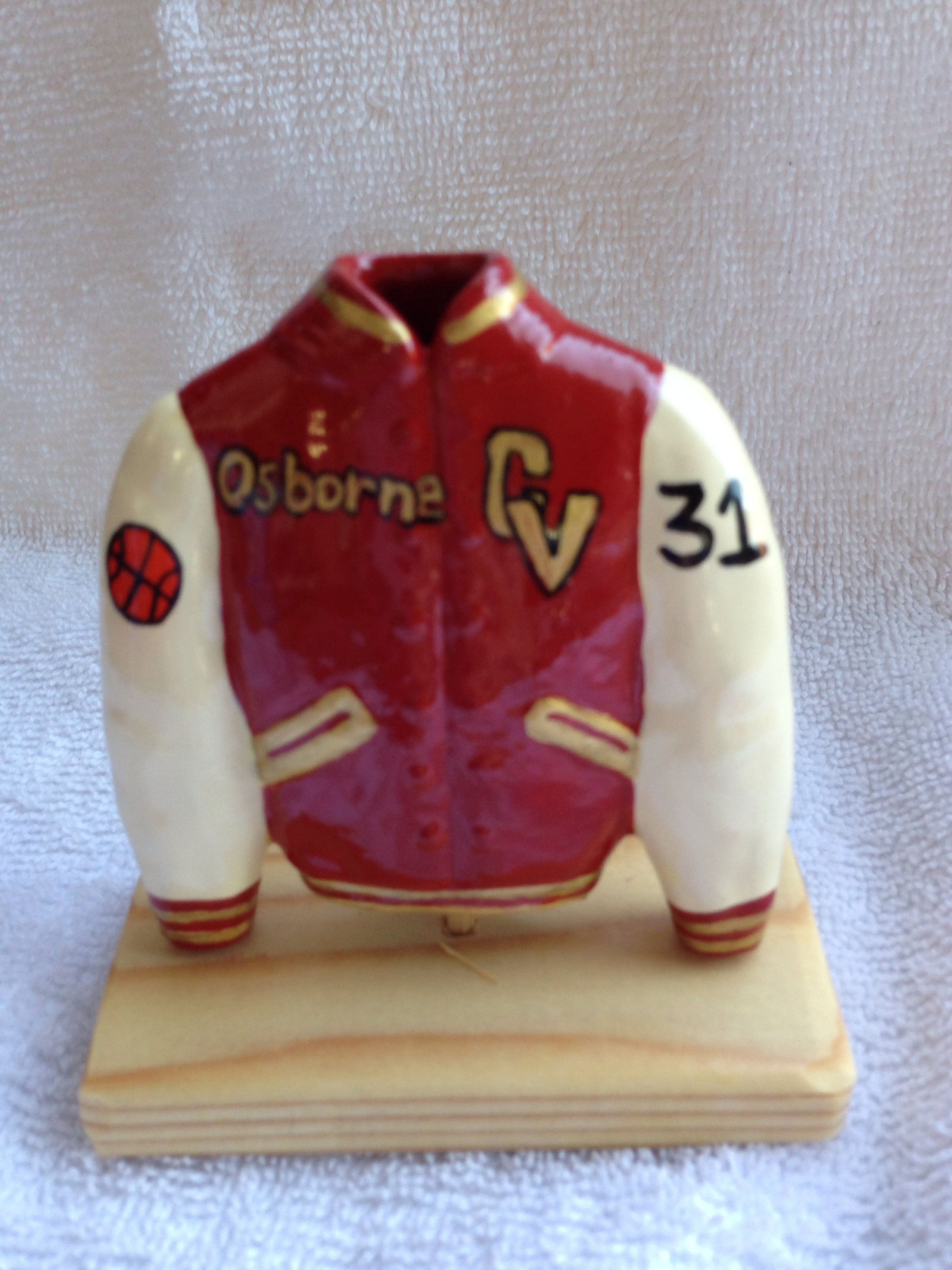 My husband & I make customized hand painted letterman jackets for sports teams, groups or businesses. Here is an order we did for a team in Corvallis