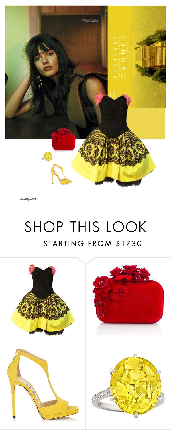"""""""Summer dreams..."""" by katelyn999 ❤ liked on Polyvore featuring Christian Lacroix and Jimmy Choo"""