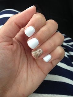 White Gel Nails Gold Gel Nails White Gel Nails Glitter Gel Nails