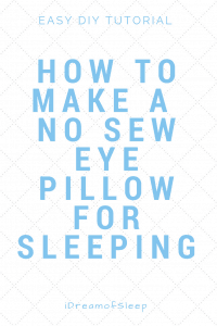 My lavender sleeping eye pillow died and I didn't have a sewing machine
