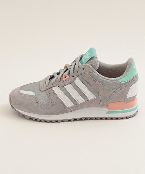 6a0ac23ac4faf adidas Originals ZX 700  Grey Peach Green