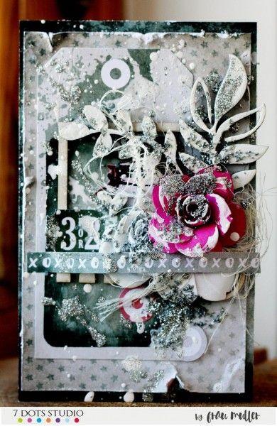 Silver card by Frau Muller
