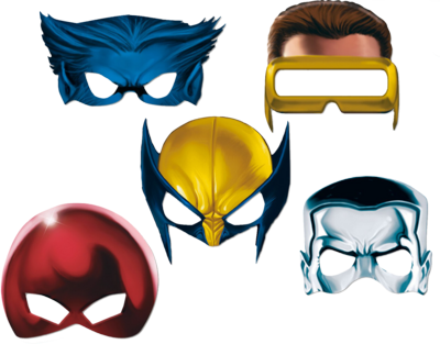 X men masks so you can be wolverine or cyclops or beast for Cyclops mask template