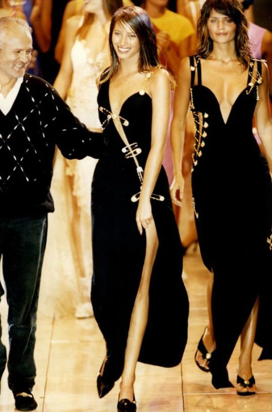 The Iconic Gianni Versace Safety Pin Dress