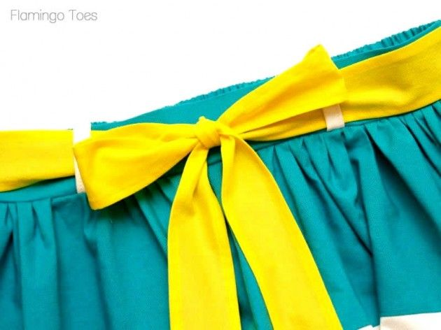 cute DIY color block skirt tutorial