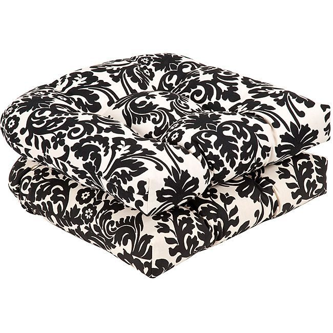 li set includes two 2 cushions li li color black beige damask
